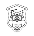 owl with graduation hat icon vector image vector image