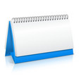 Paper calendar mockup vector image vector image