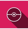 Pokeball icon isolated vector image