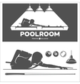 poolroom set vector image