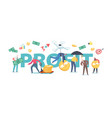 profit concept people money savings investment vector image vector image