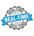real-time stamp sign seal vector image vector image
