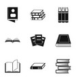 reference icons set simple style vector image