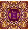 Rich gold invitation card in the Indian style vector image