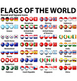 round and square icons flags world vector image