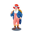 Santa Claus dressed in American Flag stars and vector image vector image