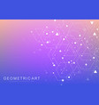 science network pattern connecting lines and dots vector image vector image