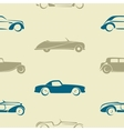 Seamless pattern with retro cars vector image