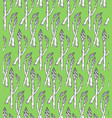 seamless pattern with sketch style asparagus tile vector image