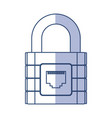 shadow padlock cartoon vector image
