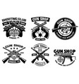 shooting club badge set collection vector image