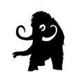silhouette mammoth vector image vector image