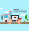 smart home flat design vector image vector image