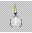 Spirit Lamp Burner For Chemical Lab On Transparent vector image vector image