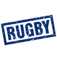 square grunge blue rugby stamp vector image vector image