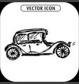steampunk retro cars hand drawn vector image