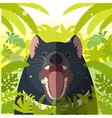 Tasmanian devil on the Jungle Background vector image vector image