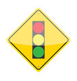 Traffic Lights Ahead Sign vector image vector image