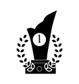 Trophy and prize symbol icon black simple style vector image