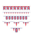 union jack flag bunting vector image vector image