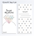 Valentines Day back and fron side card vector image vector image