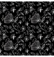 floral pattern silver vector image