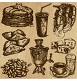 Food - An hand drawn pack vector image