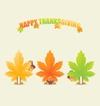 Happy thanksgiving turkeys disguised as maple vector image