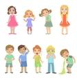 Kids With Maladies Set vector image