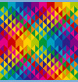 abstract colorful triangles repeatable motif vector image vector image