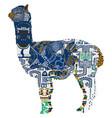 animal symbolizing peru vector image vector image