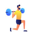 athlet lifting barbell vector image
