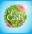 banner earth day with the title vector image