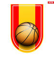 basketball badge and label vector image
