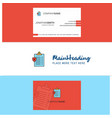 beautiful clipboard logo and business card vector image vector image