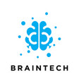 brain logo with a modern style vector image vector image