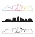 Brescia skyline linear style with rainbow vector image vector image