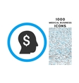 businessman rounded symbol with 1000 icons vector image vector image