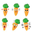 carrot emotion vector image