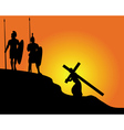 carrying the cross vector image vector image