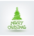 Christmas greeting card Hand drawn design element vector image