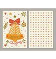 Christmas greeting card with sketchy bell and vector image vector image