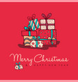 christmas new year cute cartoon decoration card vector image