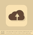 cloud download icon download files vector image