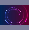 colorful neon spiral lines abstract background vector image vector image