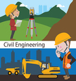 Construction civil engineering land survey enginee vector image