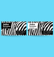 creative business card zebra pattern texture vector image vector image