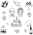 Doodle of Weding party vector image vector image