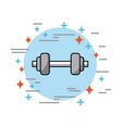 dumbbells in circle health vector image