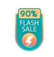 flash sale 90 off bolt background image vector image